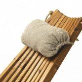 Liegestuhlkissen Für Eco Chair Von EcoFurn Aus Grobem Leinen